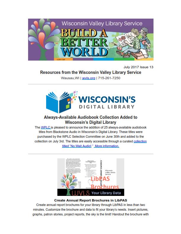 WVLS Newsletter 13 July 13 2017 Page 1