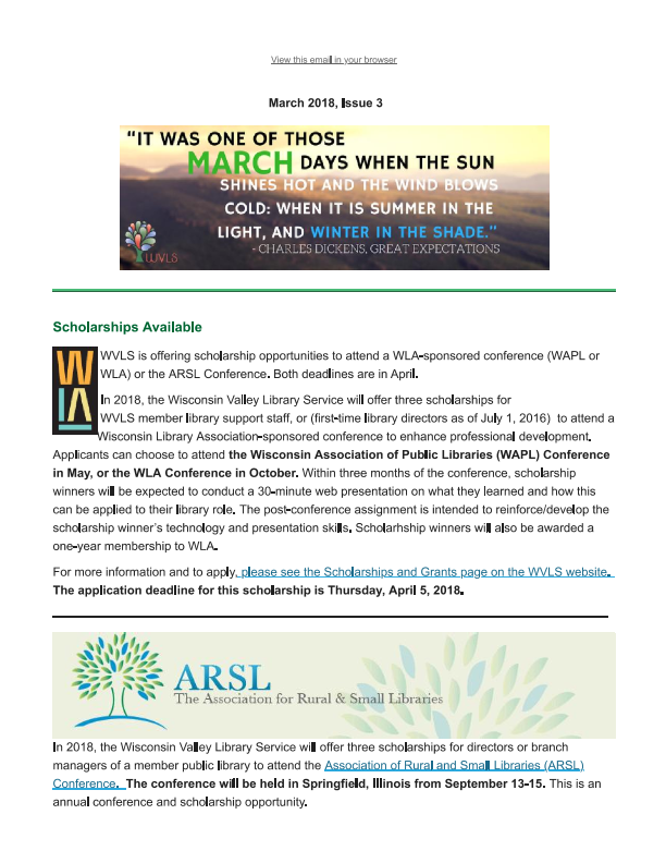 WVLS March Newsletter Now Available_001